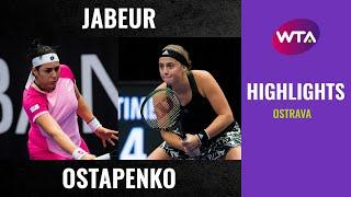 Ons Jabeur vs. Jelena Ostapenko | 2020 Ostrava Second Round | WTA Highlights