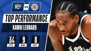 Kawhi Leonard (34 PTS, 9 REB, 8 AST) Leads The Clippers To Their 7th Win In A Row!