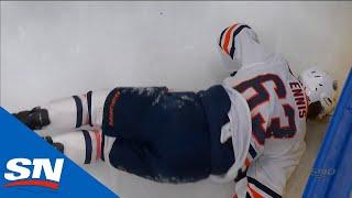 Tyler Ennis Leaves Game After Heavy Collision With Kirby Dach Against Boards