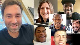 Eddie Hearn US fighter Q&A with Jacobs, Andrade, Hooker, Castro, Taylor and Haney