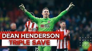 AMAZING DEAN HENDERSON TRIPLE SAVE | Sheffield United Vs Norwich | Premier League