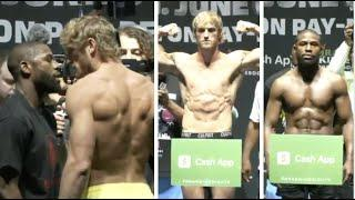 F*****G HEATED!! FLOYD MAYWEATHER & LOGAN PAUL GET ALL UP IN EACH OTHERS FACES DURING FINAL WEIGH-IN