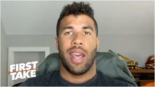 Bubba Wallace on NASCAR banning the Confederate flag at all races | First Take
