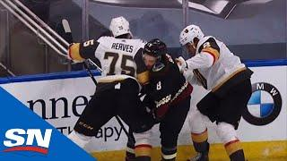 Ryan Reaves Catches Nick Schmaltz With Hit To Head In Exhibition Play
