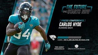 Jaguars RB Carlos Hyde Meets with Local Media | Introductory Press Conference