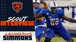 NFL Scout breaks down Lachavious Simmons pick | Chicago Bears