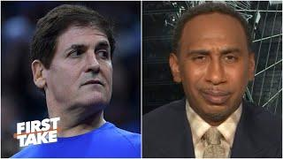 Stephen A. reacts to Mark Cuban saying he hopes to kneel with players during the anthem | First Take