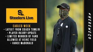 Steelers Live (Oct. 6): Injury update, limited number of fans allowed at Heinz Field, Eagles game