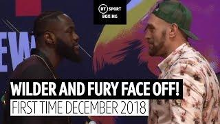 Deontay Wilder and Tyson Fury face off for the first time ahead of their rematch