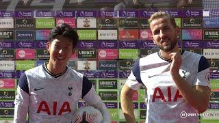 """It's an honour to play with this amazing guy!"" Son and Kane react to record breaking day vs Saints"