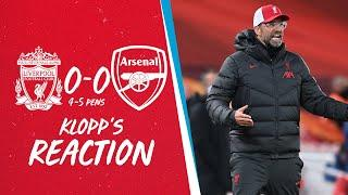 Klopp's Reaction: Williams, defeat & Champions League draw | Liverpool vs Arsenal