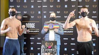SEAN MCCOMB VS GAVIN GWYNNE WEIGH IN AND FACE OFF - MTK FIGHT NIGHT MAIN EVENT