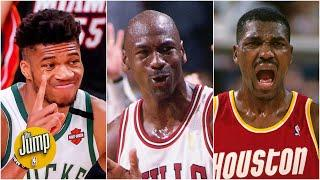 Will Giannis join Michael Jordan and Hakeem Olajuwon in NBA awards history? | The Jump