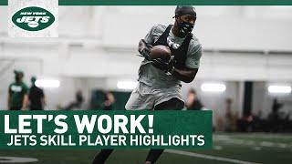 Jets Pass Catchers Put In Work | New York Jets Training Camp | NFL