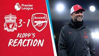 Klopp's Reaction: 'We played exceptional football against a team in form' | Liverpool vs Arsenal