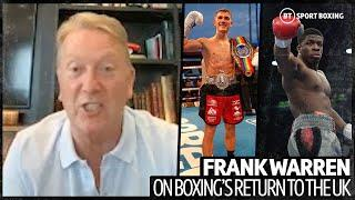 """""""Referees will shower between fights"""" Frank Warren breaks down first UK boxing card in over 100 days"""