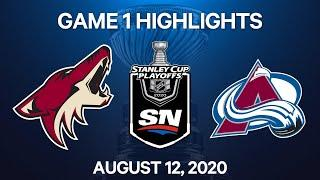NHL Highlights | 1st Round, Game 1: Coyotes vs. Avalanche - Aug. 12, 2020