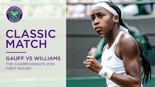 Coco Gauff vs Venus Williams | Wimbledon 2019 first round | Full Match