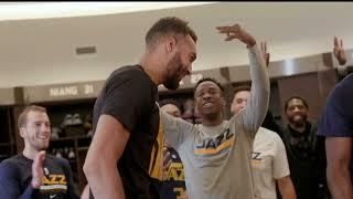 Rudy Gobert Surprised by Jazz after Winning Defensive Player of the Year!