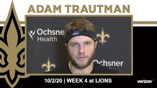 Adam Trautman on Saints Tight Ends, Staying Prepared | Saints at Lions Week 4 2020