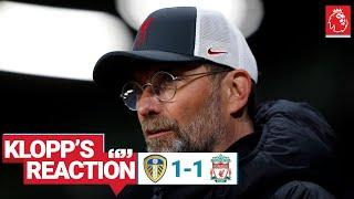 """Klopp's Reaction: """"It's frustrating when you don't get over the line"""" 
