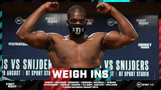 Official weigh-in results: Daniel Dubois, Sunny Edwards, Maxwell, Adeleye, Hutchinson, Noakes