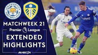 Leicester City v. Leeds United | PREMIER LEAGUE HIGHLIGHTS | 1/31/2021 | NBC Sports