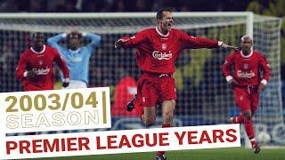 Every Premier League Goal 2003/04 Season | Michael Owen book ends another top-scoring season