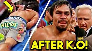 *WOW* PACQUIAO REACTS TO K. O LOSS - LAUGHING SECS AFTER in POST FIGHT INTERVIEW vs MARQUEZ *FULL*