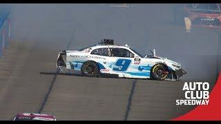 Noah Gragson and Ross Chastain tangle at Fontana | NASCAR at Auto Club Speedway