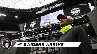 Raiders Arrive at Allegiant Stadium for the First Time | Las Vegas Raiders