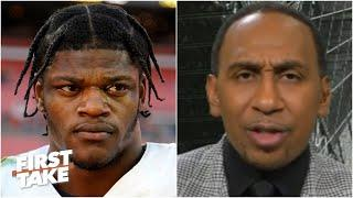 Stephen A. reacts to Lamar Jackson being unsatisfied with the Ravens' offense | First Take