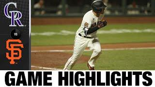 Dickerson and Belt fuel Giants in 5-2 victory | Rockies-Giants Game Highlights 9/22/20