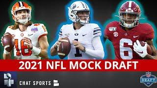 2021 NFL Mock Draft: 1st Round Projections Ft. Zach Wilson, DeVonta Smith, Kyle Pitts & Penei Sewell