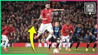 Why does Bruno Fernandes jump every time he takes a penalty? | Oh My Goal