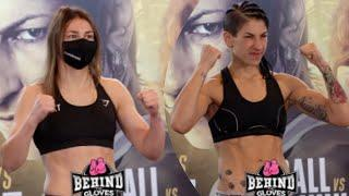 KATIE TAYLOR VS MIRIAM GUTIERREZ WEIGH-IN AND FACE OFF