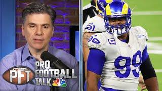 What's More Likely: Aaron Donald ready to feast on Carson Wentz | Pro Football Talk | NBC Sports