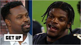 The Ravens' offense is like wildcat with a QB that can throw in Lamar Jackson - Bart Scott | Get Up