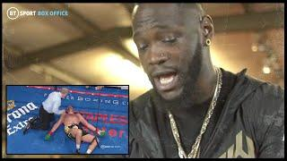 """The Gypsy King rises from the dead!"" Deontay Wilder watches back 12th round against Tyson Fury"