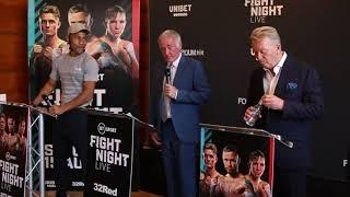 FRAMPTON / CONLAN / SHARP - FRANK WARREN HOSTS PRESS CONFERENCE AHEAD OF BT SPORT SHOW ON AUGUST 15