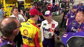 Raw footage of Denny Hamlin-Joey Logano fracas at Martinsville | NASCAR Cup Series
