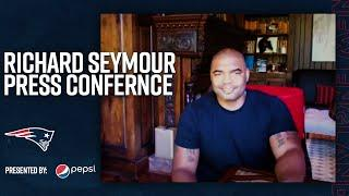 Richard Seymour Reacts to Patriots Hall of Fame Call | Press Conference
