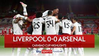 Arsenal beat Liverpool in sudden death shootout! | Liverpool 0-0 Arsenal | Carabao Cup Highlights