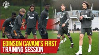 Edinson Cavani joins training for the first time! | PSG v Manchester United | UEFA Champions League