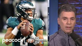 Are the Eagles truly set on Jalen Hurts as starting QB? | Pro Football Talk | NBC Sports