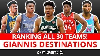 Ranking All 30 NBA Teams' Chances At Giannis Antetokounmpo In 2021 | Ft. Warriors, Mavs & Heat