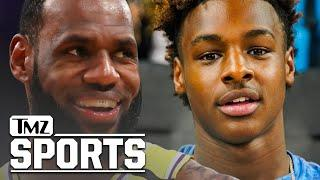 LeBron James Signs Extension With Lakers Through 2023, Teaming Up With Bronny? | TMZ Sports