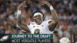 2021 NFL Draft's Most Versatile Players & Daniel Jeremiah's Top 50 List | Journey to the Draft