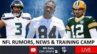 NFL Rumors, Antonio Brown, NFL Return Plans, Aaron Rodgers, Training Camp Battles & News + Live Q&A