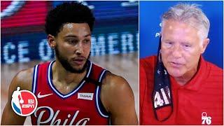 Brett Brown talks Ben Simmons injury, 76ers' win vs. Wizards | NBA on ESPN